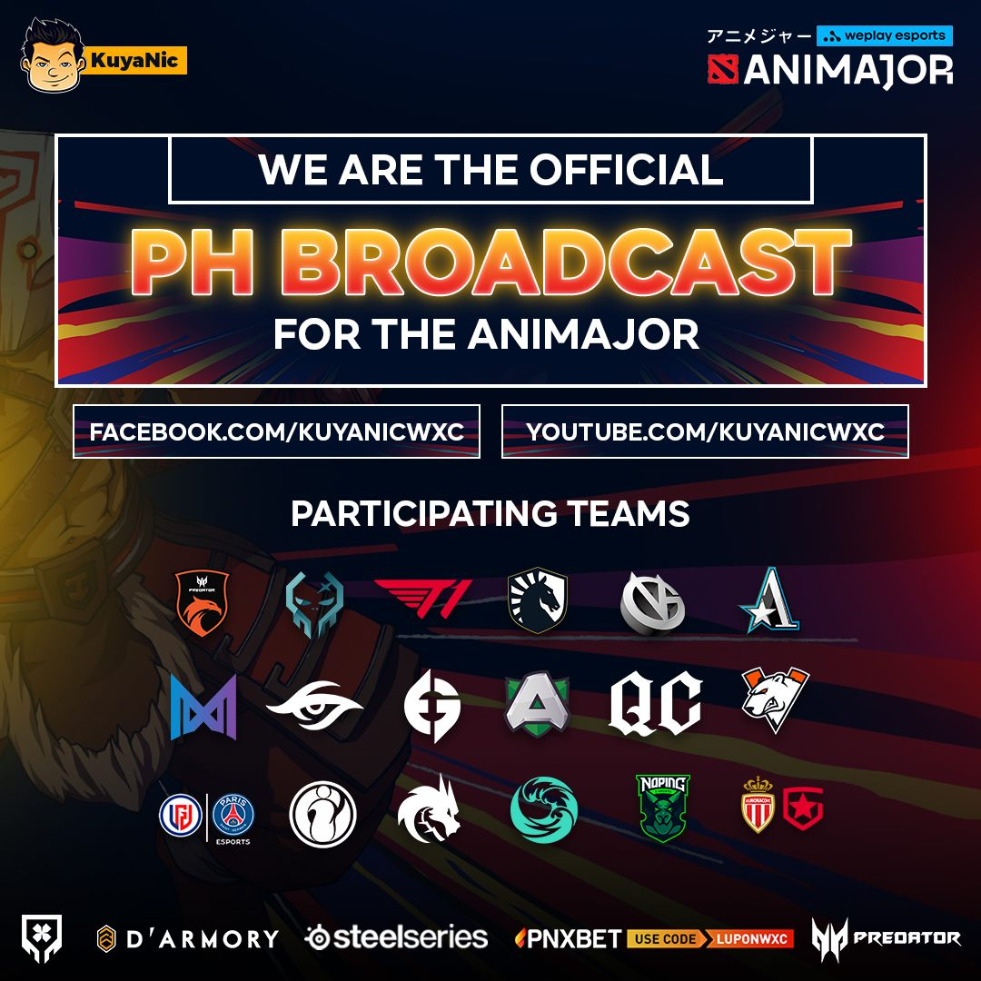 Filipino Broadcast for the WePlay AniMajor